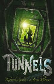 Tunnels by Roderick Gordon and Brian Williams. Lots of scary scenes, and a LOT of claustrophobia. It gave me nightmares!
