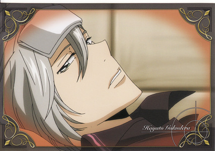 Gokudera from KHR! He's got trauma from her sister and she takes care of him....