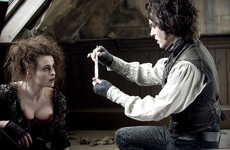Sweeney Todd the Demon Barber of Fleet Street<3 definitely my favourite movie and incredible music and great actors