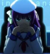 Yuri-san from Angel Beats usually wears a hat!