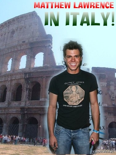 Matthew in front of the Coliseum building in Italy. Matthew is of Italian descent. I created this too.