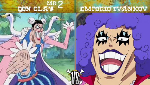 Mr. 2 Bon Clay and Ivan-chan from One Piece! Ivan-chan is the Queen of queers! (even though he's a guy) XD