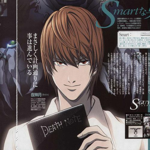Definitely not Light Yagami. Death Note.