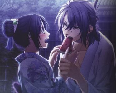 1. Souji Okita and Chizuru Yukimura (Hakuouki) 2. SasuSaku 3. Ulquiorra/IchigoXOrihime (Bleach)
