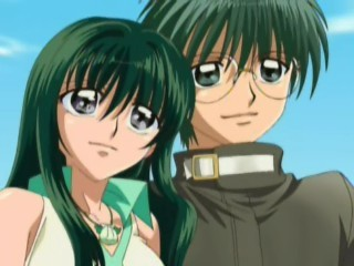 Rina and Masahiro both have green hair.