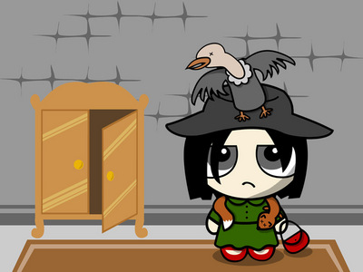Snape as Neville's boggart. (Like this, but in puppet form)