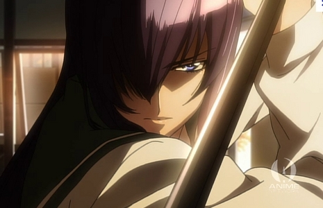 Hmm..This picture of Saeko-san in Highschool of the Dead!
