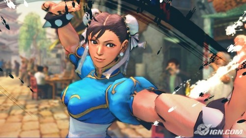 Chun-Li from strada, via Fighter. Despite her being a video game character, there are many strada, via Fighter Anime movies. For example --> http://www.youtube.com/watch?v=jNKbDh_ExQE