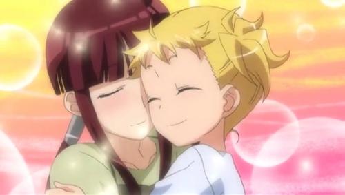 Here's a cute yuri couple, Yume and Yuuki from Kanamemo.