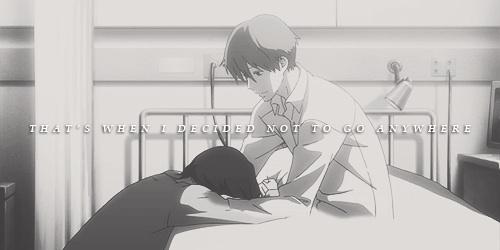 Rokka and Atsushi Shimao! te cannot get cuter o cuore breaking and sadder than this \(>人< )/
