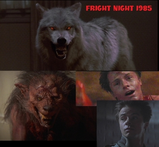 """Fright Night is a vampire movie came out when I was just a साल old, This guy Called """"Evil Ed"""" morphs into a भेड़िया and he dies after being impaled in the chest द्वारा a तालिका, टेबल leg. This movie is awesome!! :D"""