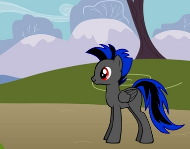 Shadow Blitz pegasus Black and blue lightning bolt with large wings (pic) weather patrol