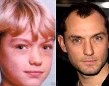 Jude Law as a little kid and now. :)