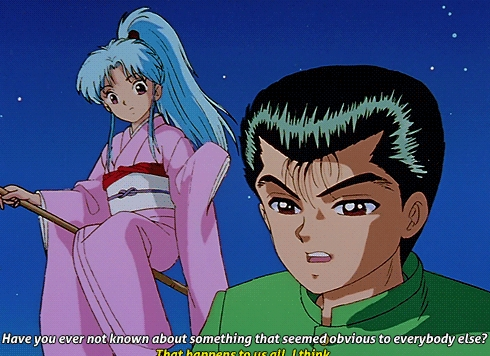 Hmm..so an Anime character levitating..Botan from Yu Yu Hakusho on her scopa hopefully this counts as levitating..