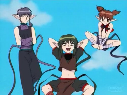 All the aliens from Tokyo Mew Mew! Left to Right- Pai, Kisshu, Taruto.