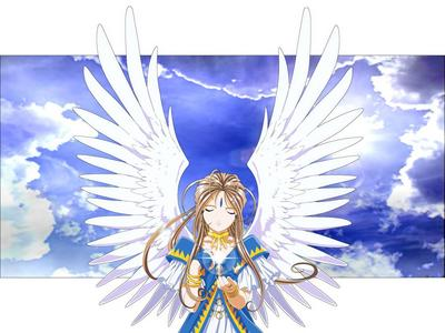 Why Belldandy from Ah! My Goddess has wings.