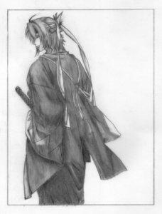The very first character I liked is Okita Souji from hakuouki anime.