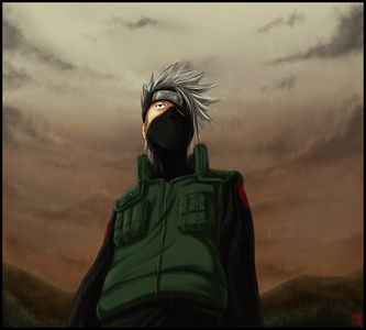 The very first would be kakashi Hatake from Naruto. ...Some of tu probably know who it is now... >.>