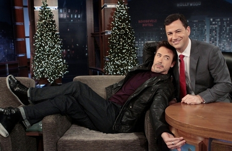Robert >childish< Downey Jr. during an interview with Jimmy Kimmel