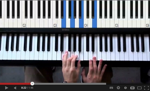 I actually learned this song by watching a cool YouTube tutorial video.