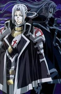 Abel Nightroad from Trinity Blood is a vampire that feeds on the blood of other vampires.