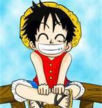luffy is asymmetrical he has a scar under the left eye but not the right