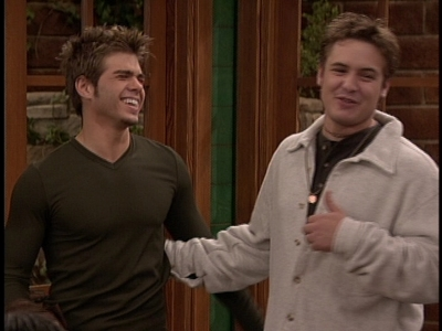 Matthew as Jack and Will Friedle as Eric laughing.