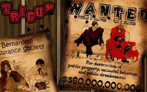 Trigun, is some parts is set in the old west.