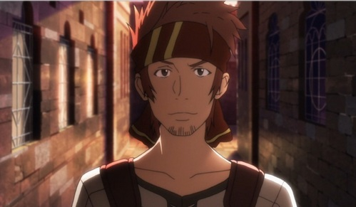 Klein-san in the anime Sword Art Online! He's trapped in a video game and if I recall in order to get halaman awal he has to beat the entire game..or something similar to that..