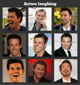 Some actors laughing :)