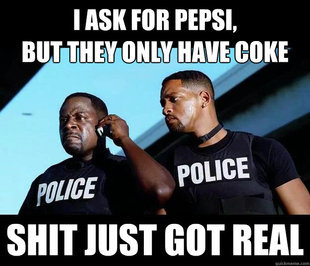 Pepsi Not Coke, Pepsi! There is a difference!