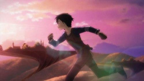 Kirito from Sword art online. :)