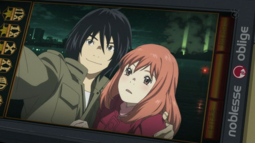 A lot of it is targeted towards younger audiences, so I'm sure you'll find something you're looking for. I'd say to watch Eden of The East (Higashi no Eden). It's a good little romantic دکھائیں and it should be on Netflix, although I didn't watch it on Netflix originally. Here's a link if it's not on Netflix anymore - http://www.animefreak.tv/watch/higashi-no-eden-episode-1-english-dubbed-online-free