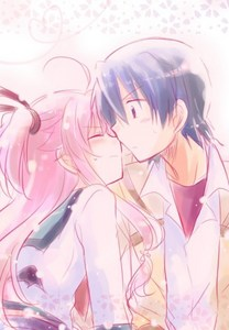 Here is one of Yui-nyan and Hinata-kun! X3