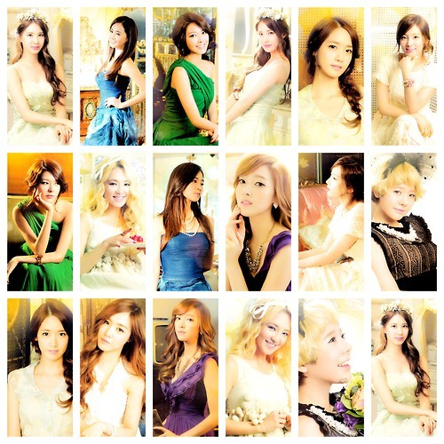 1)Yuri 2)Sooyoung 3)Jessica 4)Tiffany 5)Sunny 6)Hyoyeon 7)Yoona 8)Taeyeon 9)Seohyun