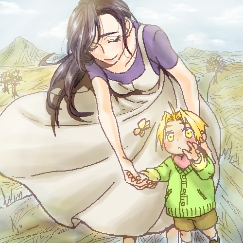 Edward with his mom T^T
