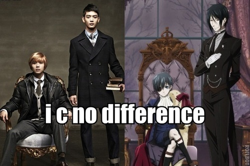 K-pop and Аниме ♥ еще specifically, Black Butler (Тёмный дворецкий) and SHINee.