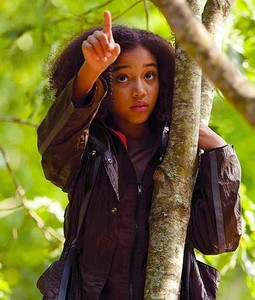 Rue from the Hunger Games ♥ Mostly because she looks just like me, and not many artis look like me. :L