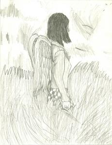 Beautiful Dead series and The Forbidden Game series are awesome...and The Forbidden Game series is by the same girl tht wrote The Vampire Diaries....only there's only 3 rather thin books, but they r awesome none the less. (below: my sketch of Beautiful Dead cover 4 1st book)