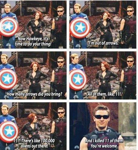 Hawkeye don't care.