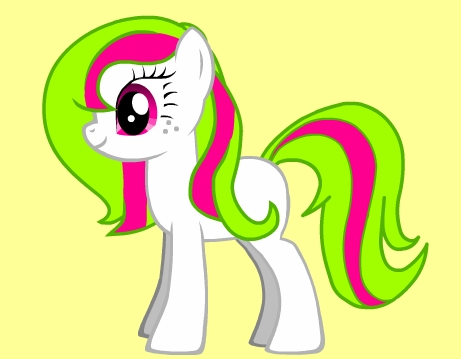 I would look something like this picture. I would be an earth pony and my cutie mark would be colored pencils or just a pencil with a peice of paper. My mane would be similer to the one in the picture. A different color maybe but I like it this way. I would work at the newspaper place or an art supplies shop because I like to draw and write. :)