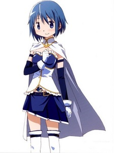 I really like Sayaka's puella magi outfit.