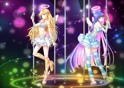 ((Panty and Stocking's angel outfits!))