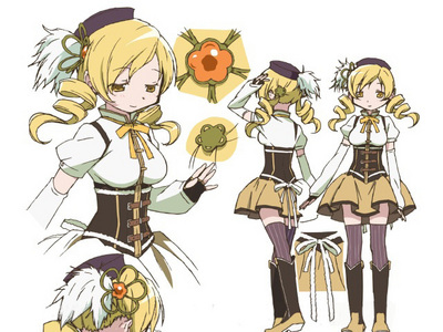 Mami Tomoe's outfit is pretty cool. :)