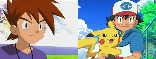 Ash and Gary from Pokemon.