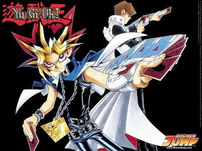 Seto Kaiba and Yugi Moto from Yu-Gi-Oh!