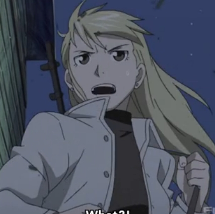 All righty here is Riza from Fullmetal Alchemist wearing black rùa, con rùa neck! hopefully this counts!