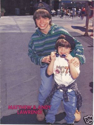 Matthew with his brother, Andy. :)
