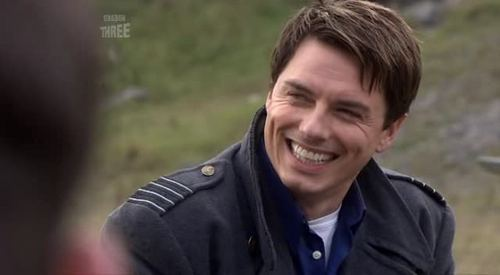 John Barrowman as Captain Jack Harkness :) He always makes me smile..