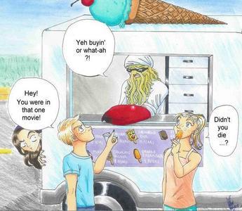 Its the ice cream truck!
